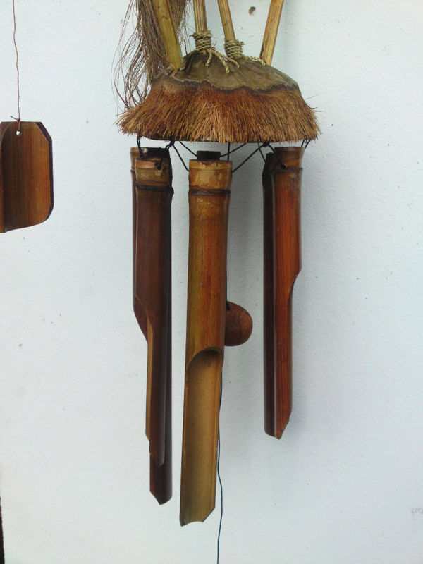 Wooden Heron Wind Chime Chiselcraft
