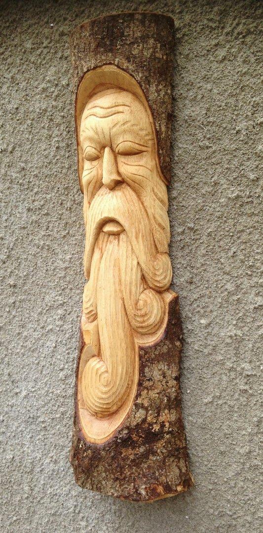 Green man wall plaque chiselcraft
