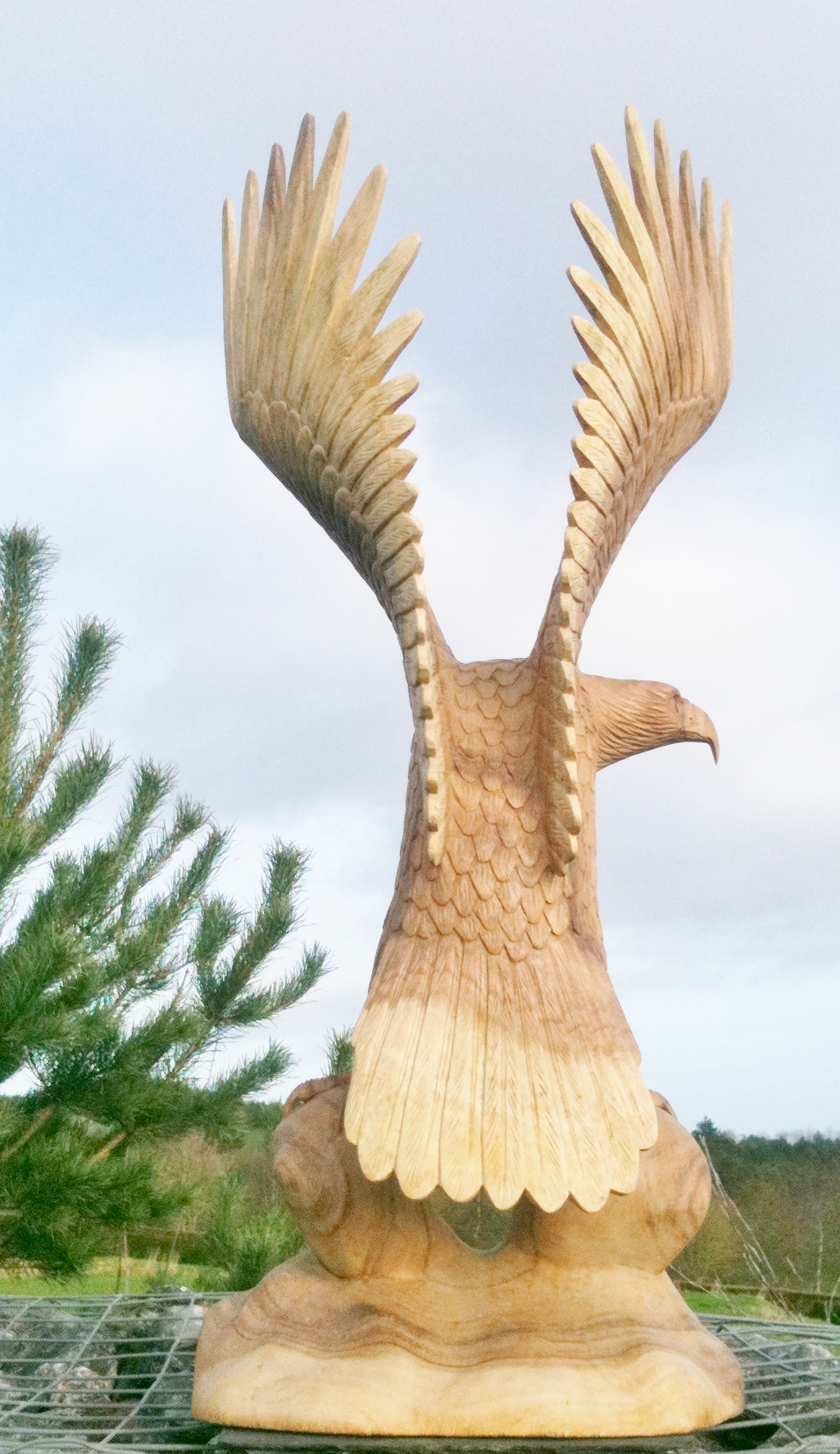 Wooden Eagle Carving Eagle Chiselcraft Co Ukhand Made