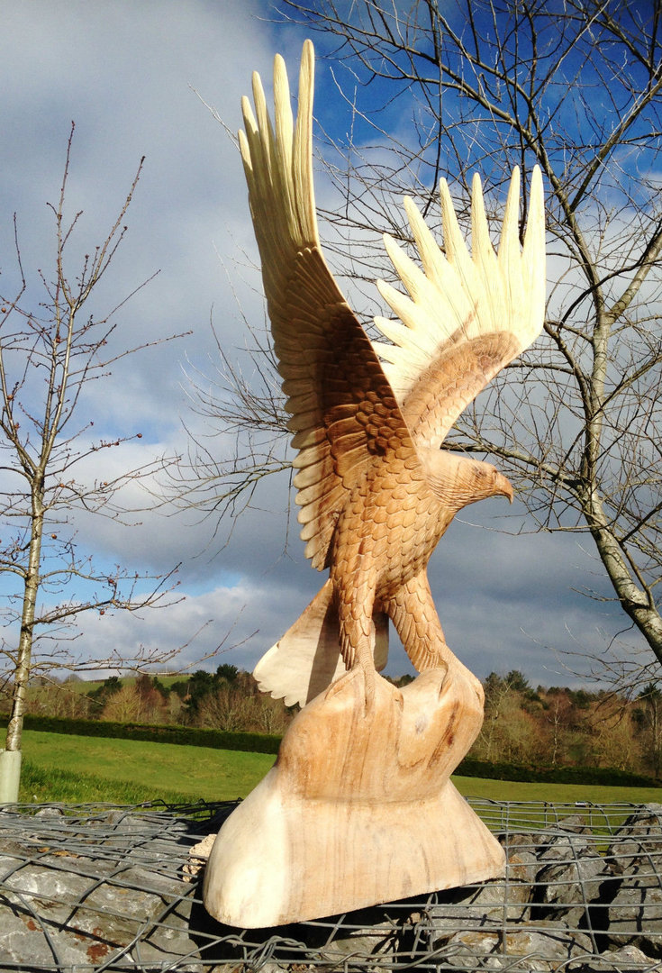 Wooden eagle carving chiselcraft hand made
