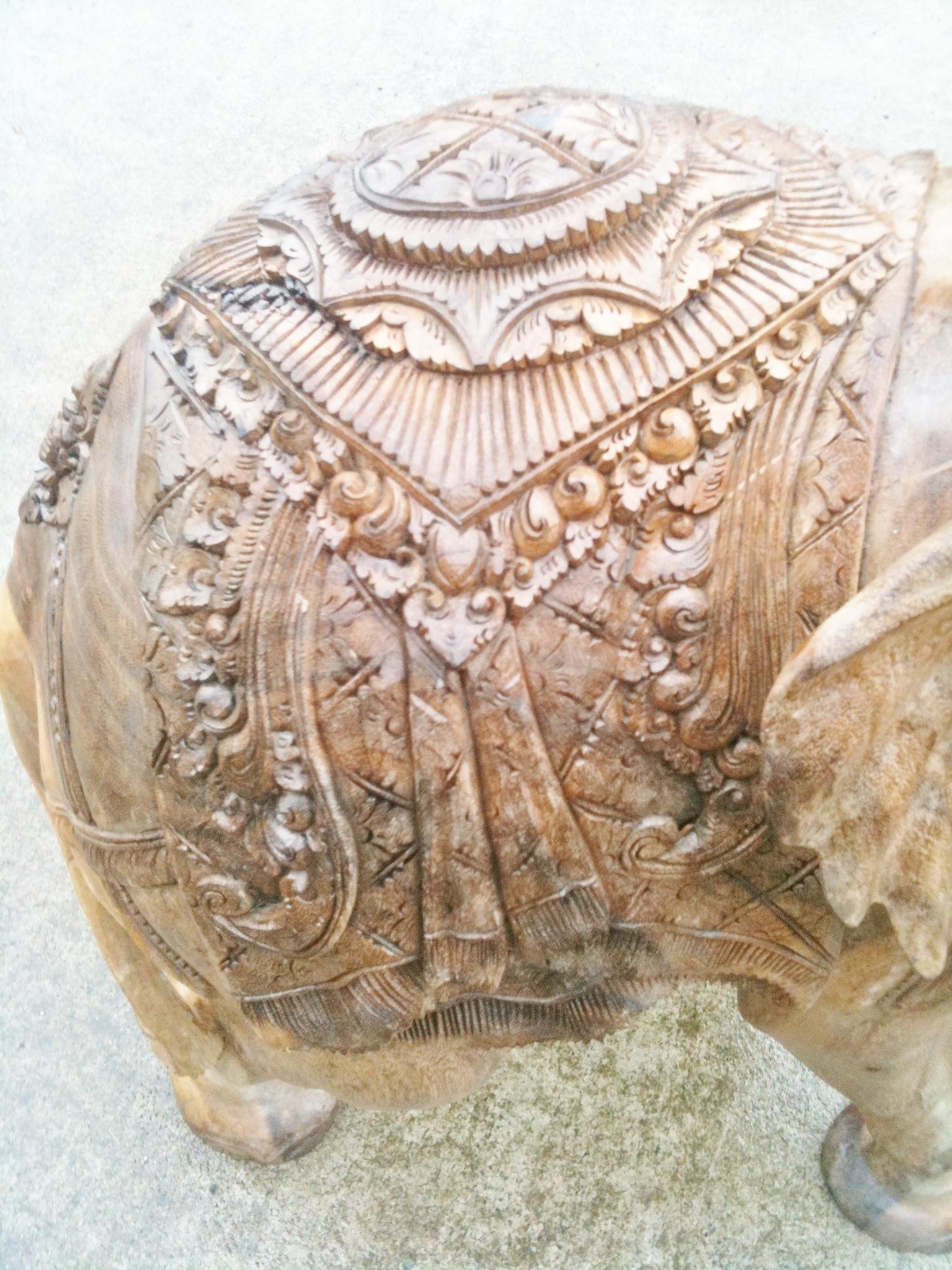 Large Saddle Elephant Chiselcraft Co Ukhand Made Wooden