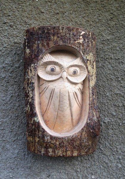 Large Owl Log Carving Chiselcraft