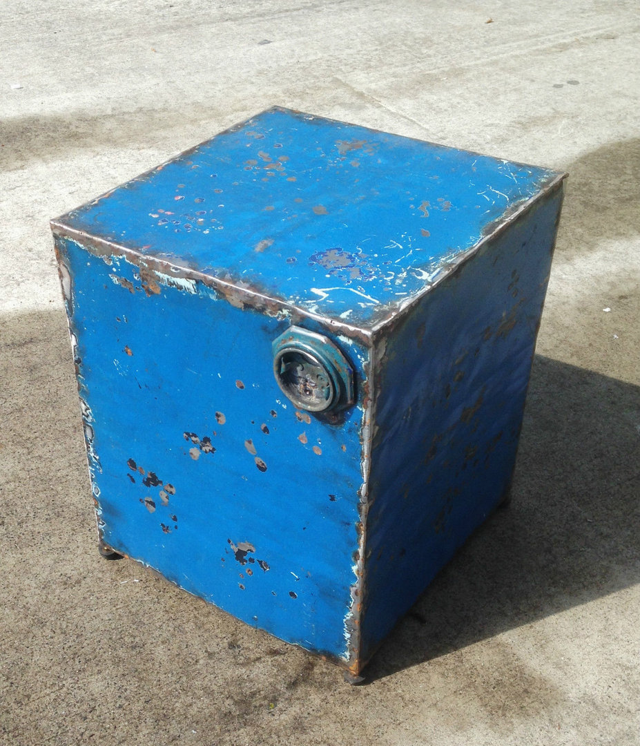 Metal Recycled Drum Table Stool Fly Me To The Moon