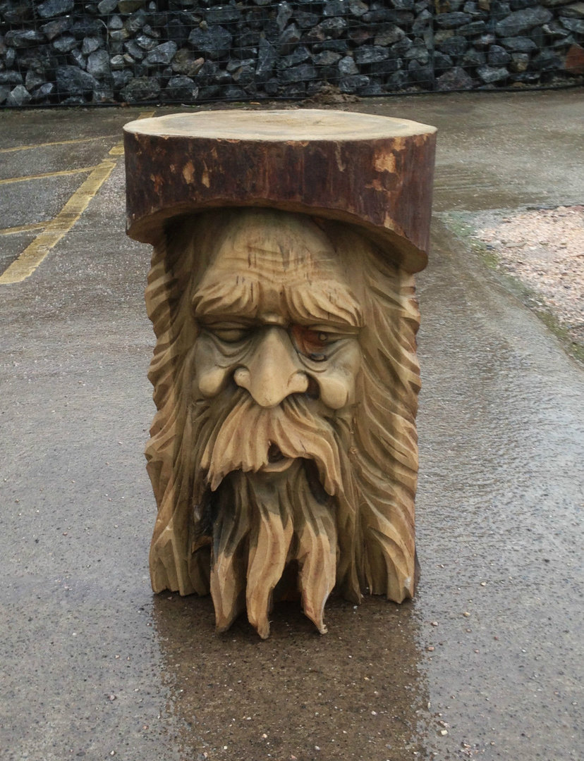 Wooden Green Man Stool Or Table Eric Chiselcraft