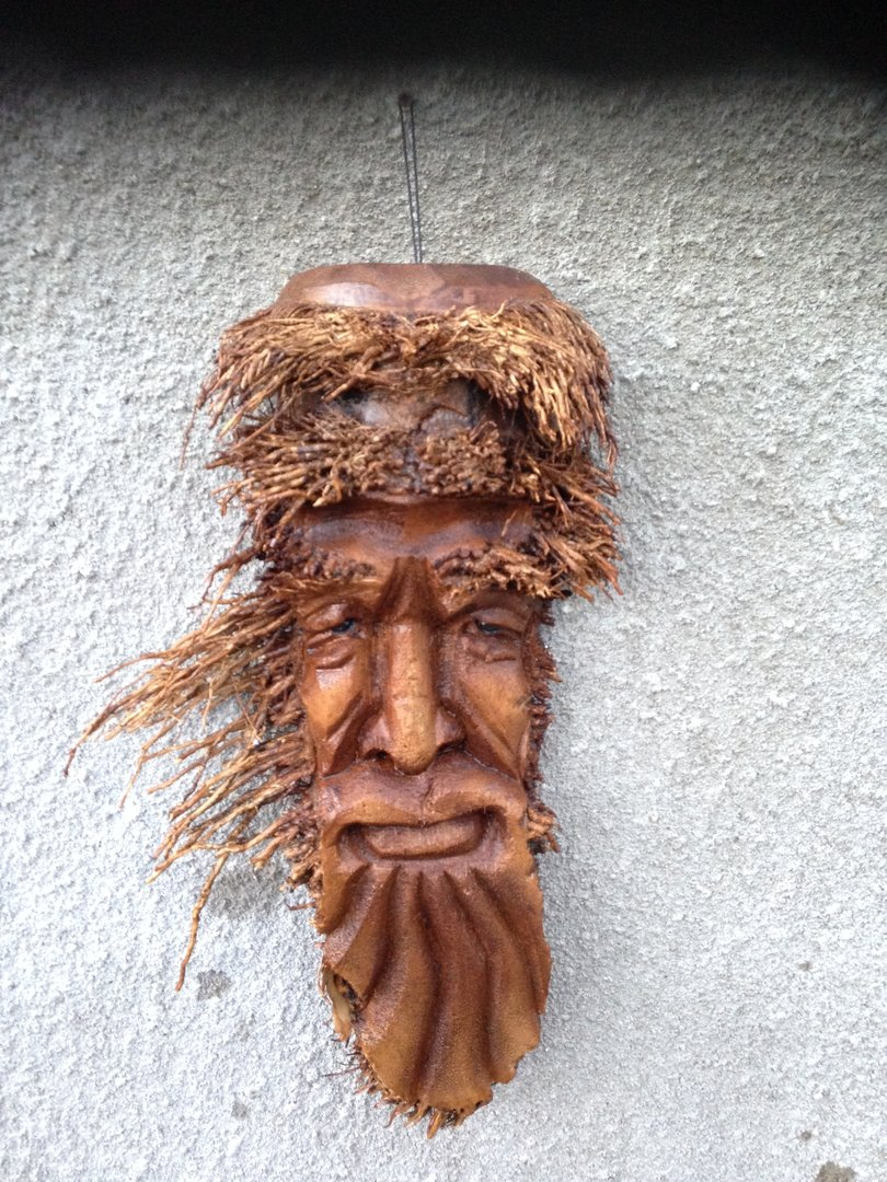 Bamboo Root Face Wood Carving Jorden Chiselcraft