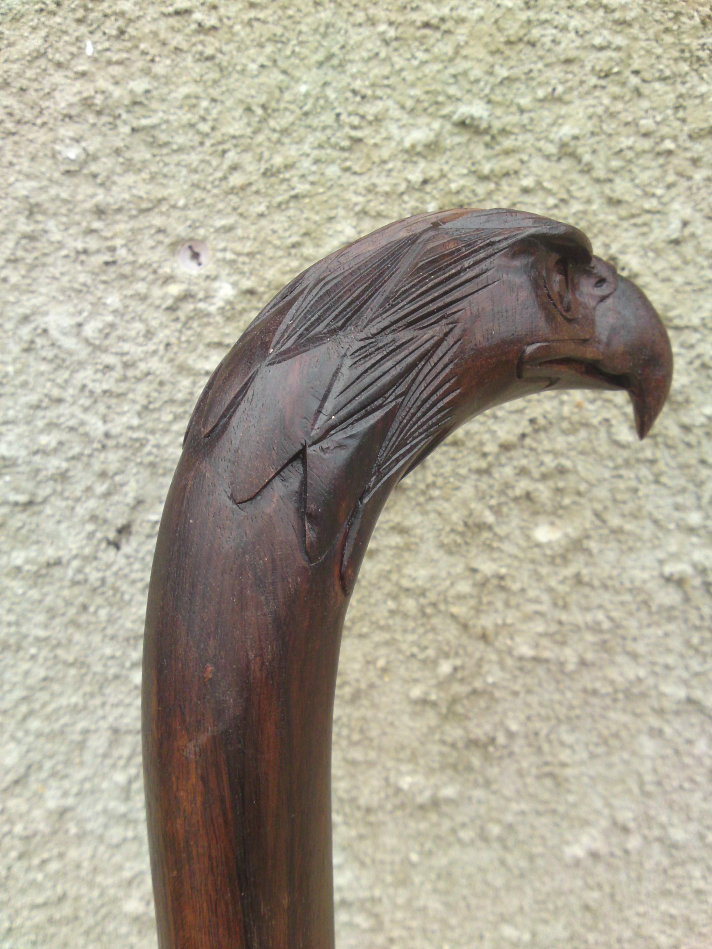 Eagle walking stick chiselcraft