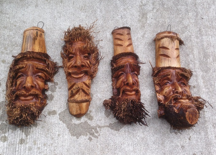 Tree Face Wood Carving