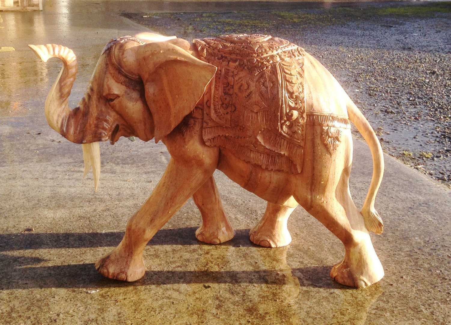 Wooden Elephant Carvings