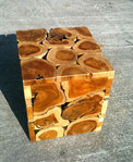 Wooden Teak Wood Cube Stool / Table