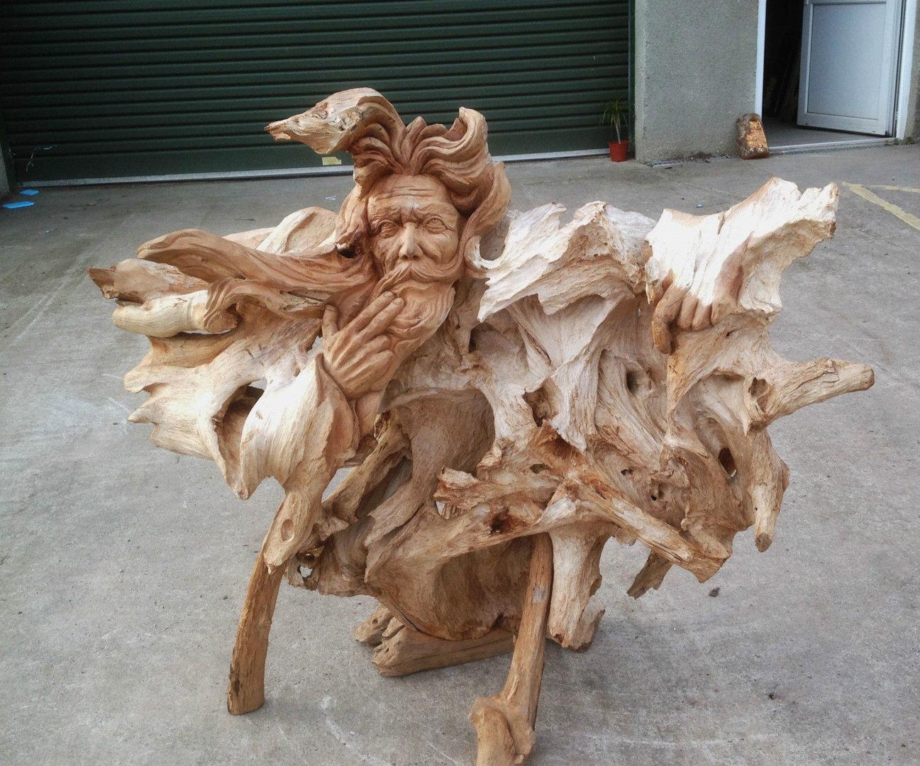 Teak Root Wood Carving Woody Chiselcraft