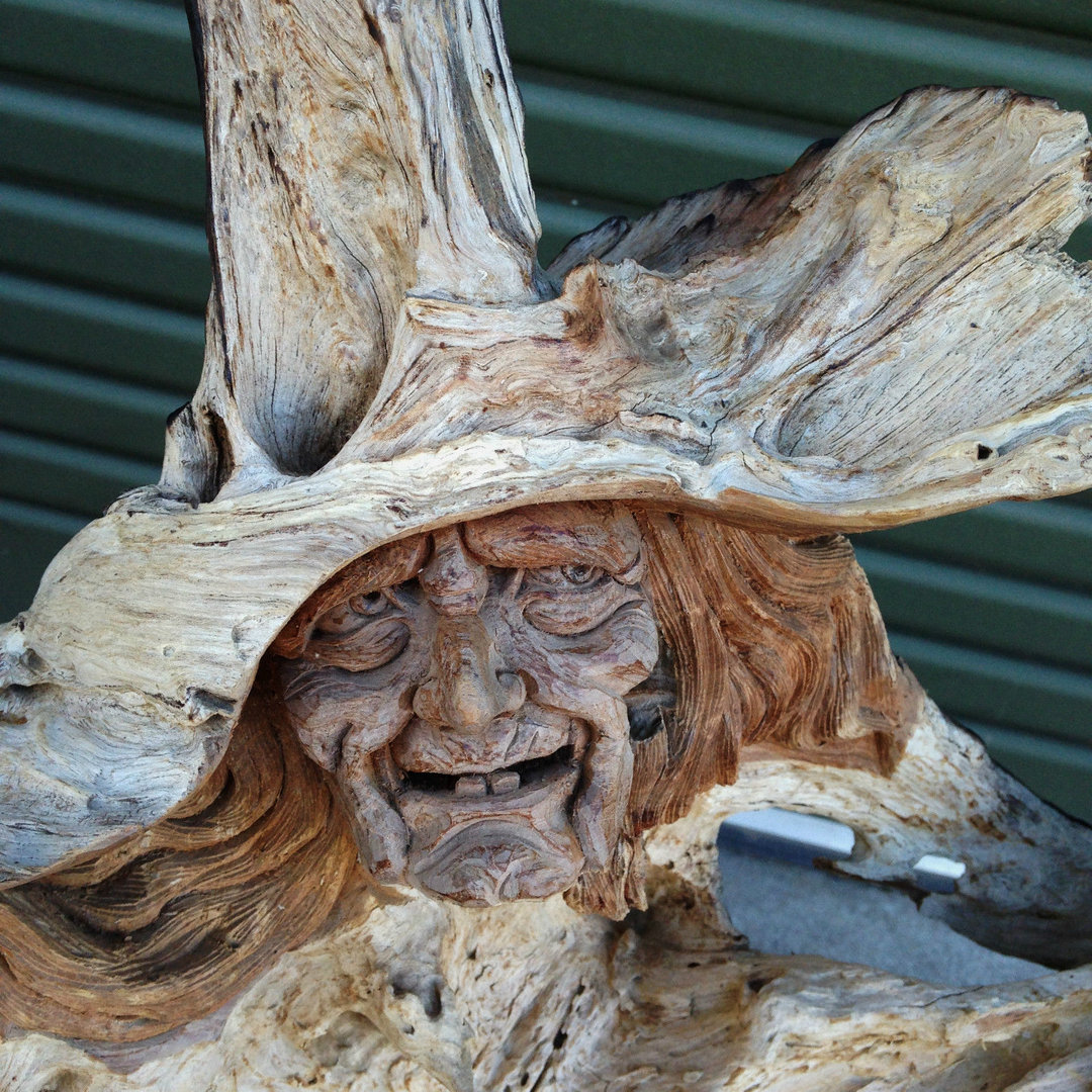 Teak Root Wood Carving The Witch Chiselcraft